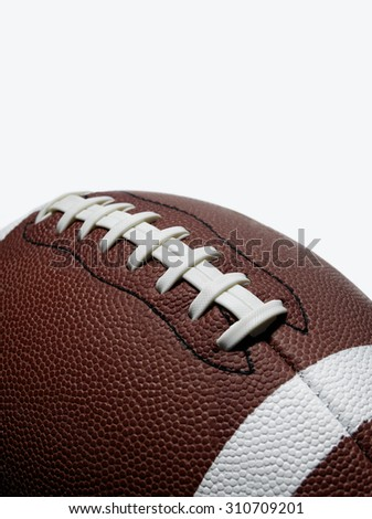 Football on White - stock photo