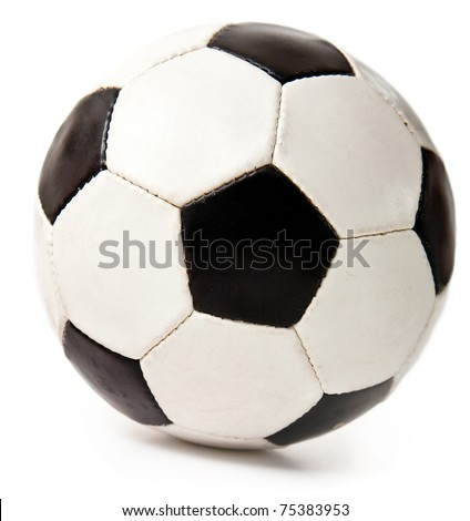 Football or soccer ball ? isolated over a white background - stock photo