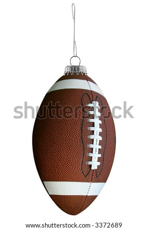 Football ornament isolated over a white background - stock photo