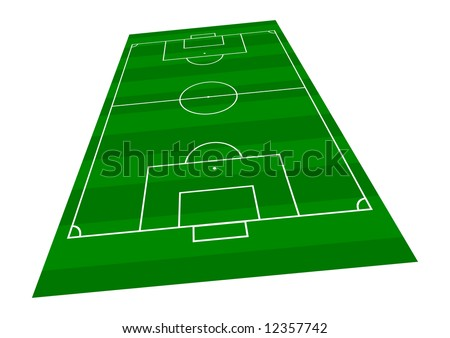 Football Pitch - Perspective view 2