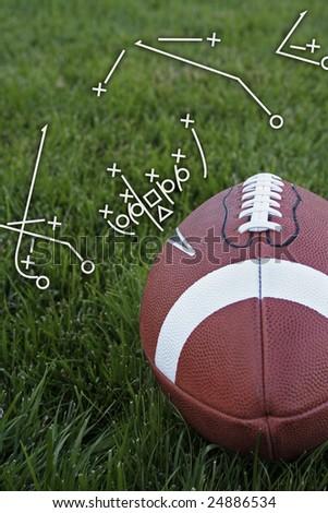 Football playbook - stock photo