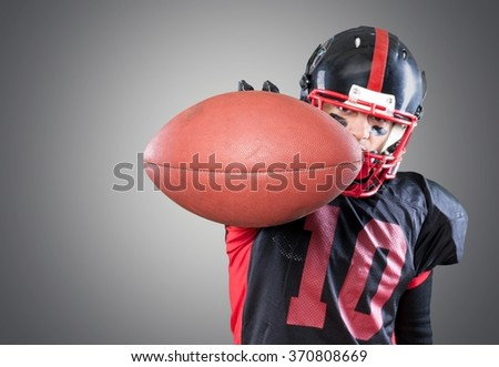 Football Player. - stock photo