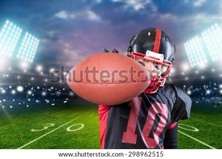 Football Player, American Football, Catching. - stock photo