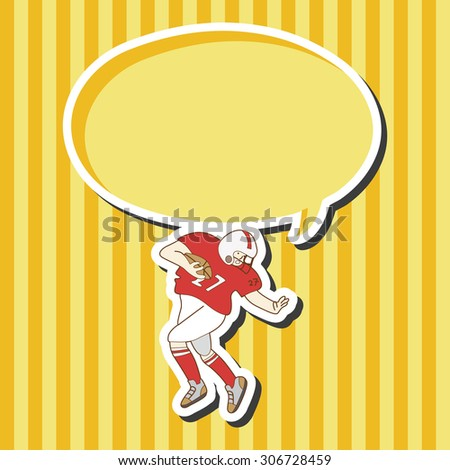 football player, cartoon speech icon
