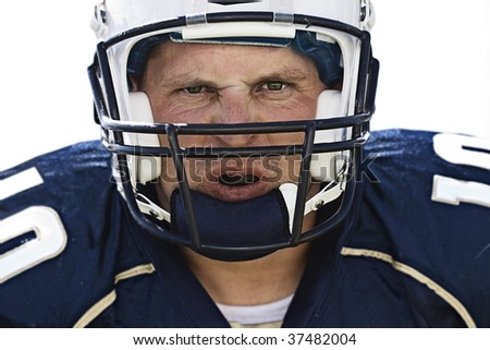 Football Player Face - stock photo