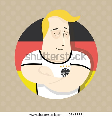 Football player for team Germany - stock photo