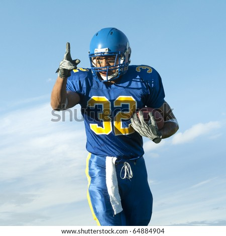 Football Player with Ball - stock photo