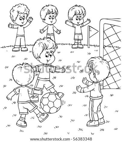 Football players - stock photo