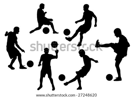 football players. vector illustration - stock photo