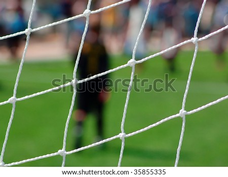 football scene - stock photo