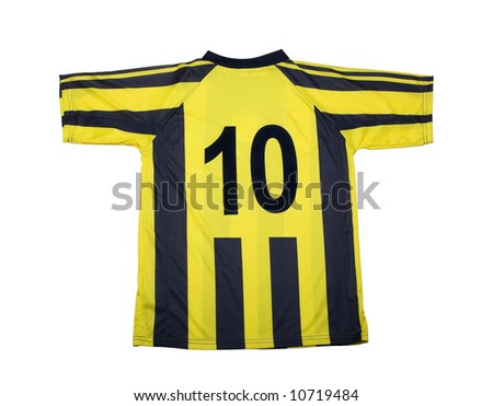 football shirt with clipping path - stock photo