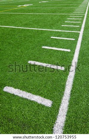 Football side lines - yards - stock photo