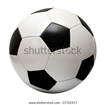 football soccer ball isolated on white