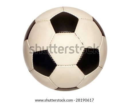 football soccer ball isolated on white - stock photo