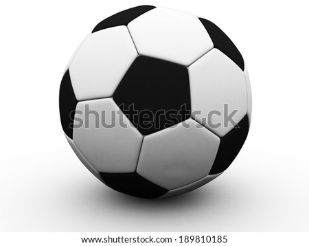 Football / soccer ball isolated on white background