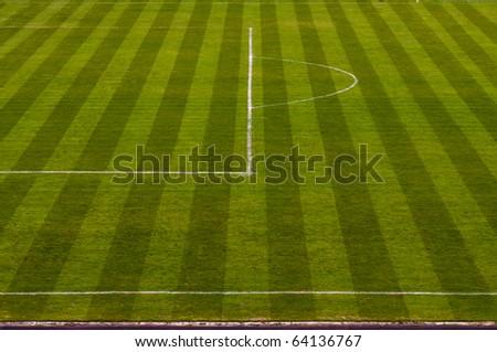 Football soccer field - stock photo