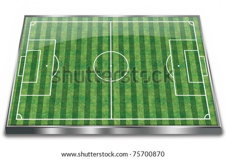 Football (soccer ) field - stock photo