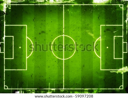 Football (Soccer Field) illustration with  space for your text - stock photo