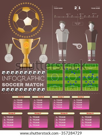 Infographic Ideas infographic soccer : Infographic Soccer Match Football Championship Flyer Stock ...