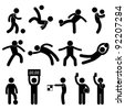 Football Soccer Goalkeeper Referee Linesman Icon Symbol Sign Pictogram - stock photo