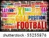 Football Soccer Grunge as Abstract Background Art - stock photo