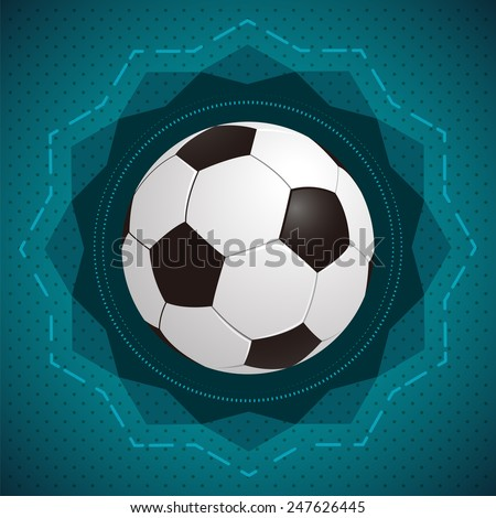 Football (soccer) illustration - icon / badge - ready for your text
