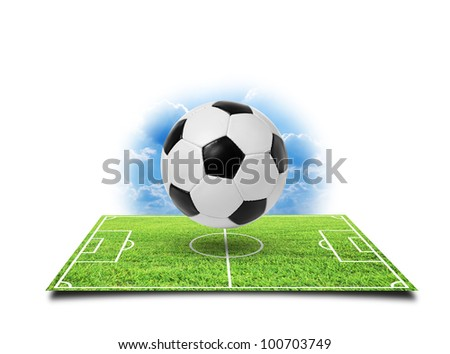 Football soccer isolated on a white - stock photo