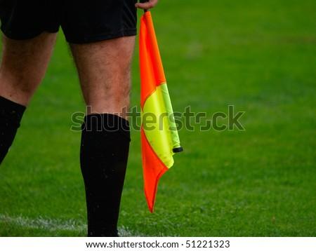 football, soccer Linesman - stock photo