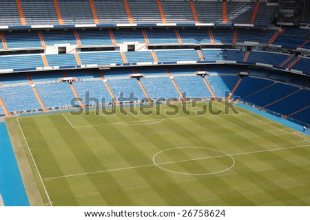 football / soccer stadium, field - stock photo