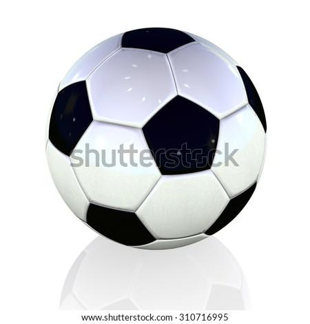 Football soccer white black classic - stock photo