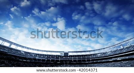 Football Stadium Horizontal - stock photo