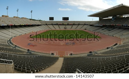 Football Stadium in Barcelona - stock photo