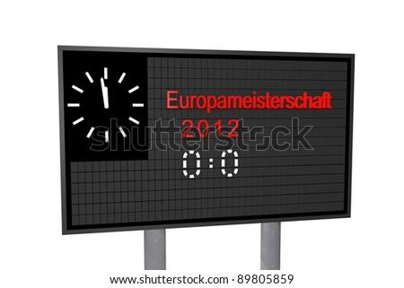 Football stadium panel - stock photo