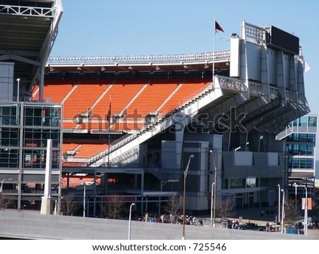 Football stadium, partial - stock photo