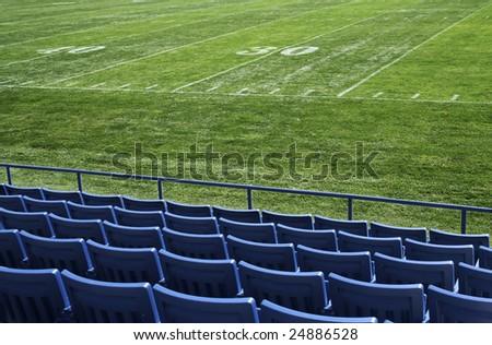 Football Stadium View - stock photo