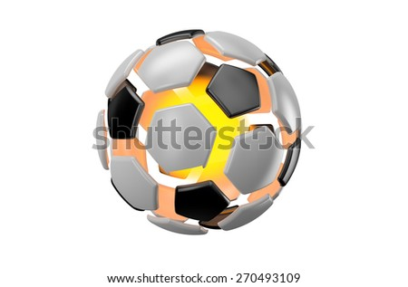 football succes concept isolated on white background - stock photo
