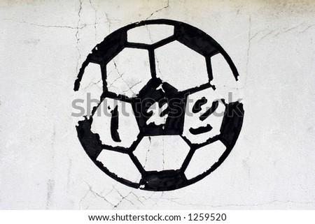 football symbol - stock photo