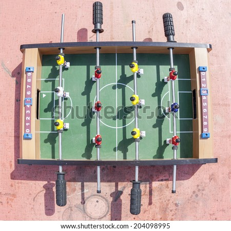 football table aerial view - stock photo