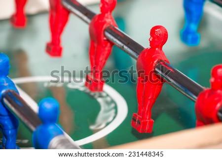 Football table. Calcio balilla. - stock photo