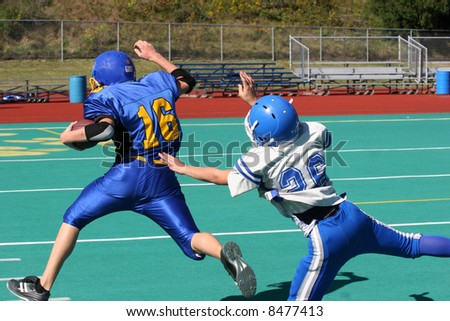 Football Tackle Attempt - stock photo