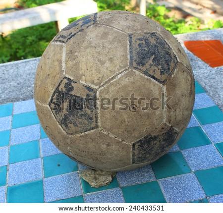 Football, take expired - stock photo