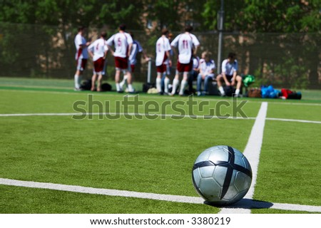 football team - stock photo