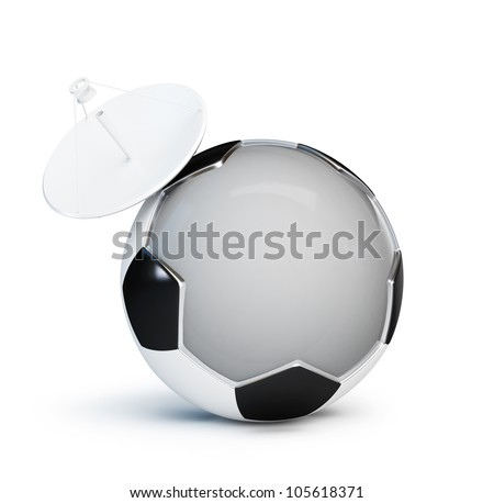 football television parabolic antenna - stock photo