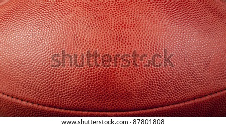 football texture with bottom seam showing - stock photo