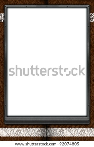 football themed mat frame 24X36 poster. Place your favorite individual or team football picture, or message inside this custom frame! - stock photo