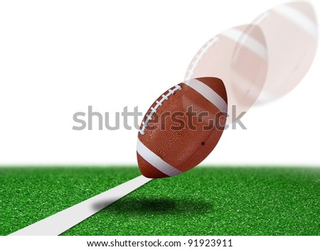 football touch down - stock photo