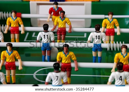 Football toy close-up - stock photo