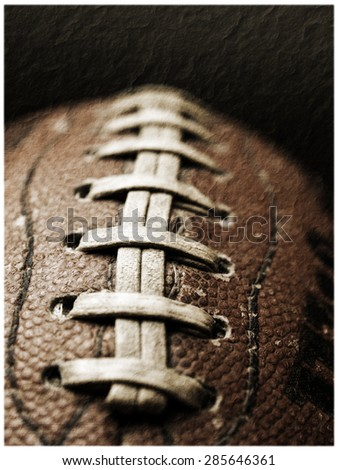 Football - vintage - stock photo
