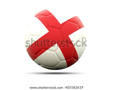 Football with flag of england. 3D illustration - stock photo
