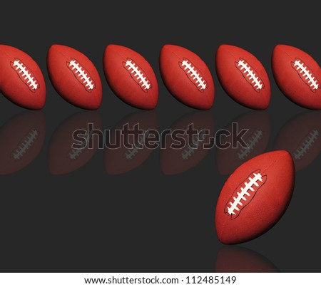 Footballs with room for your type. - stock photo